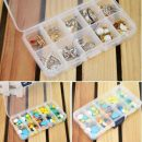 10 Slots Compartment Adjustable Jewelry Necklace Storage Box