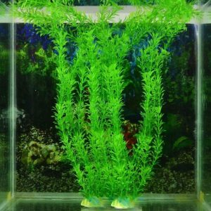 13 Inch Stunning Green Artificial Plastic Grass Fish Tank Water Plant Aquarium Decor