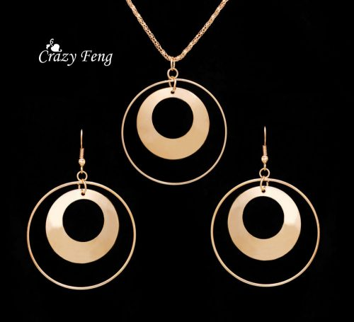 18K Gold Plated Jewelry Sets Necklace Earrings For Women