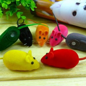1pc Pet Cat Kitten Dog Playing Toy False Mouse Rat Squeak Noise Sound Toy