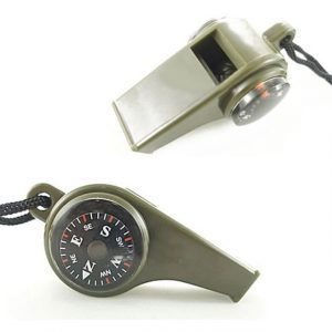 3 in1 Multipurpose Outdoor Survival Camping Compass Whistle Thermometer Portable Multi-Function Tool