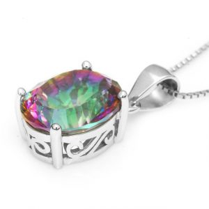 Rainbow Topaz Earrings