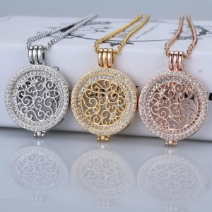 35mm coin necklace sets coin holder fit my 33mm coin pendant disc interchangeable fashion