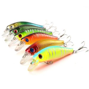 Colorful Fishing Lures 8.5CM8.5G Artificial baits tackle 3D Fish Eyes with Hooks Fishing accessory