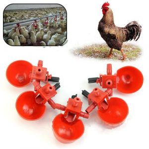 5Pcs Automatic Bird Coop Feed Poultry Water Drinking Cups
