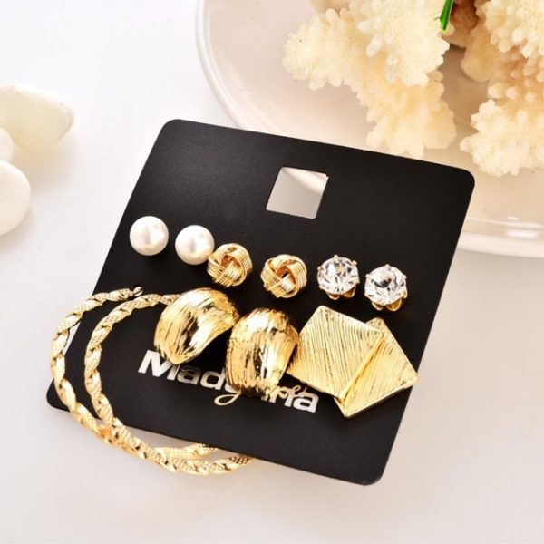 6 pairs earring sets