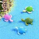 4Pcs Mini Turtle Tortoise Miniature Fairy Garden Decoration DIY Doll House Terrarium