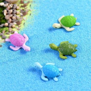 4Pcs Mini Turtle Tortoise Miniature Fairy Garden Decoration DIY Doll House Terrarium