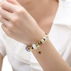 Asian 925 Silver Leather Charm Bracelets & Bangles for Women