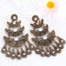 Antique Silver Color Personality Big Drop Earring Teardrop Peandant Gypsy Beach Ethnic Jewelry