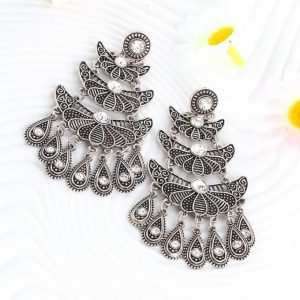 Antique Silver Color Personality Big Drop Earring Teardrop Peandant Gypsy Beach Ethnic Jewelry