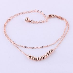 Zinc Alloy beads Anklets Women Gilrs gold plated new Charms Summer Beach Foot Jewelry Chains