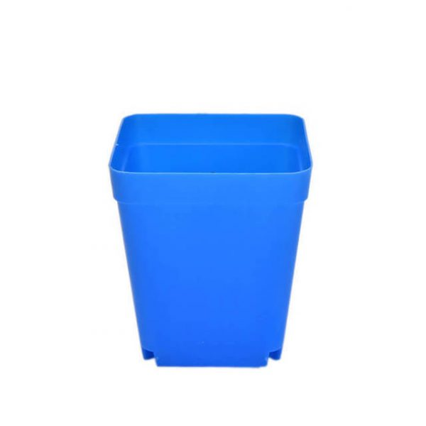 Square Multicolour Nursery Pots Plastic Plants Pot Flower Plastic Planter Nursery Garden Desk Home Decor