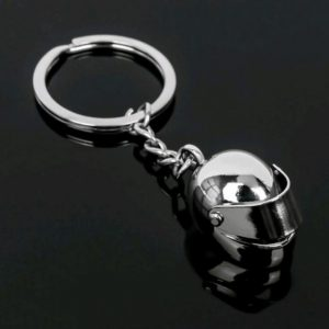 Classic 3D simulation model of Motorcycle Helmet charms creation alloy key chain key holder car keyring
