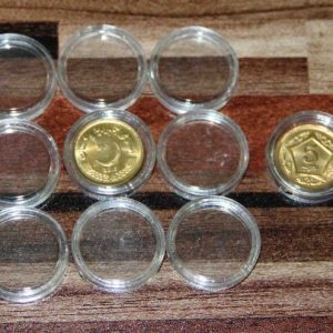 10PCS Applied Clear Round Cases Coin Storage Capsules Holder Round Plastic 19mm
