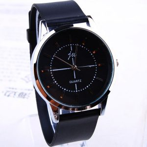 Creative Fashion Faux Leather Strap Mens Quartz Analog Watches