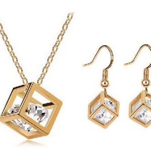 Crystal Cubic Jewelry Sets for Women