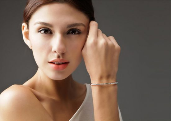 Crystal Single Row Bangles
