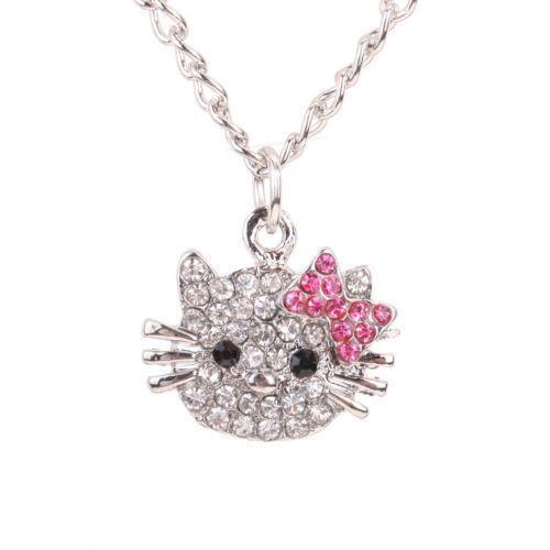 e215b178b Hello Kitty Cat Design Pendant Chain Necklace - ClicknOrder