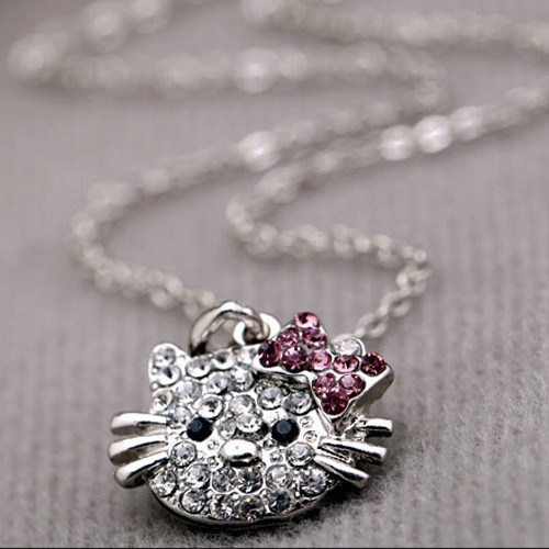 29aafcfcd Hello Kitty Cat Design Pendant Chain Necklace - ClicknOrder