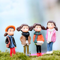 4 PCS Cute Girls Gardening Micro Landscape Kids'toys DIY Janpanese Cartoon Girls