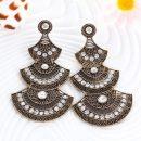 Turkish Style Big Drop Earring Sector Pattern Gypsy Beach Ethnic Tribal Festival Jewelry Bohemian