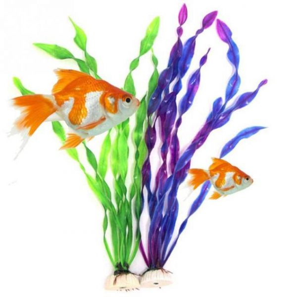 2019 New Fish Tank Aquarium Decoration Green Artificial Plastic Underwater Grass Plant
