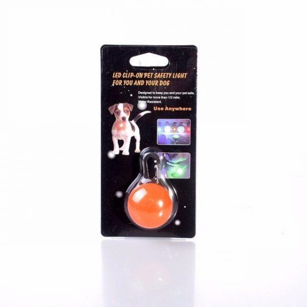 Dog Pet Led Flashing Light Pendant Night Safety Puppy Dog