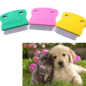 Useful Hair Lice Pets Flea Egg Dirt Dust Remover Steel Tooth Comb Health Brush