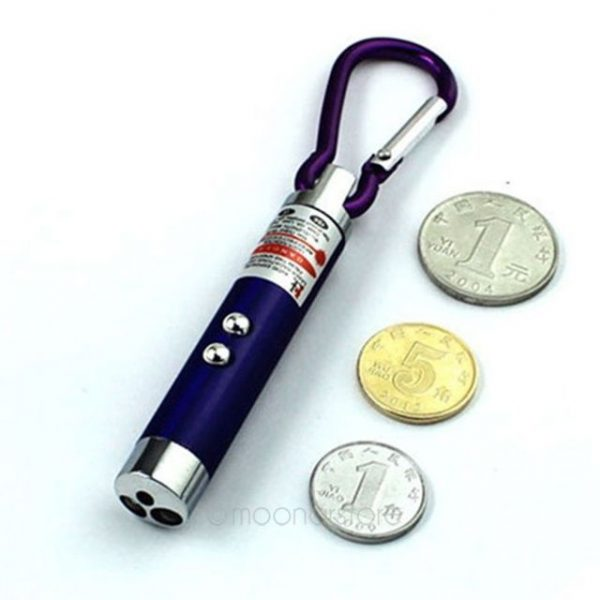 LED Laser pen 2 in 1 Mini Red Laser Pointer LED Flashlight UV Torch