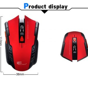 2.4 GHz Wireless Portable Optical 2000DPI 6 Button Mouse Mice Adjustable Professional Gaming Game USB Receiver for PC