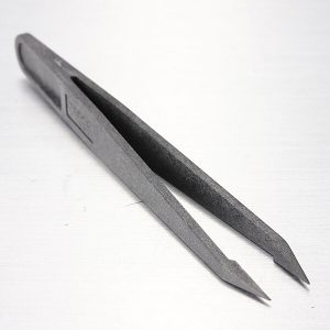 Portable Straight Bend Anti-static Anti-Magnetic Plastic Tweezers Heat Resistant Repair Tools