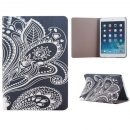 Design White Carved Flip Stand Leather Case Cover For iPad Mini 1 2 3 Retina