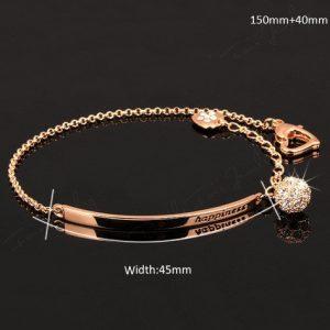 Diamond Fashion Charm Bracelets &Bangles 18K Gold