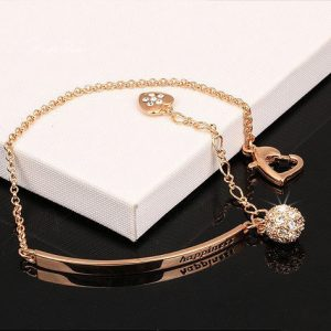 Diamond Fashion Charm Bracelets &Bangles 18K Gold