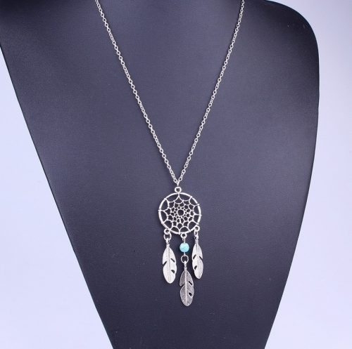 Trendy Bohemian Style Dreamcatcher Feather Wings Shaped Pendant Necklace 4 Styles