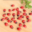 Miniature Decorations Coccinella septempunctata resin crafts DIY little Garden Decor