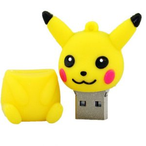 Mini pen drive Pokemon Pikachu gift pen drive 8gb 16gb keychain cartoon Pokeball usb flash