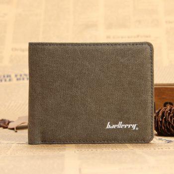 Hot Sale Fashion Men Wallets Quality Soft Linen Design Wallet Casual Short Style 3 Colors Credit Card Holder