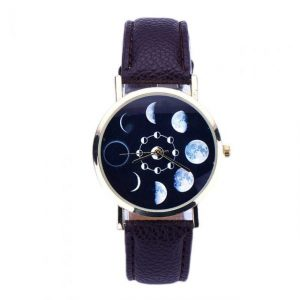 Eclipse Watch Women Faux Leather Wrist Watches