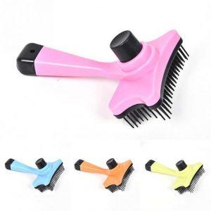 1PC Pet Dog Comb Long Hair Brush Plastic Handle Puppy Cat Massage Bath Brush Multifunction Pet Grooming Tool