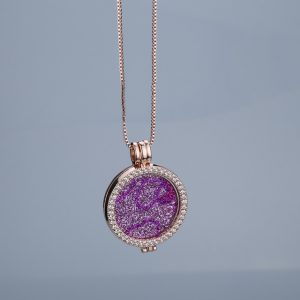 Flash sale pink interchangeable trendy brand new necklaces pendants 35mm coin holder rose gold for women