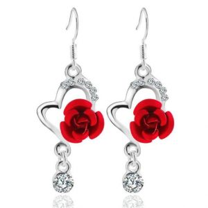 Flower Rose Earrings
