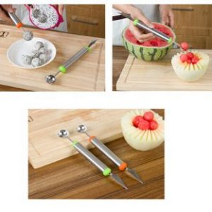 Fruit Vegetable Carving Tools Melon Scoops Ballers Stainless Steel