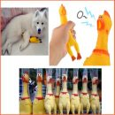 Funny gadgets 32cm High Quality novelty Yellow rubber Dog Toy Fun