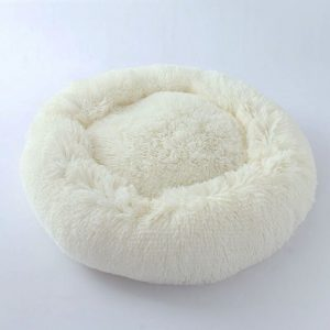 Round Pet Dog Bed Mat Winter Warming