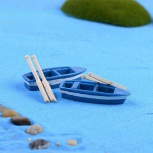 1pcs of Miniature Moss Micro Boat