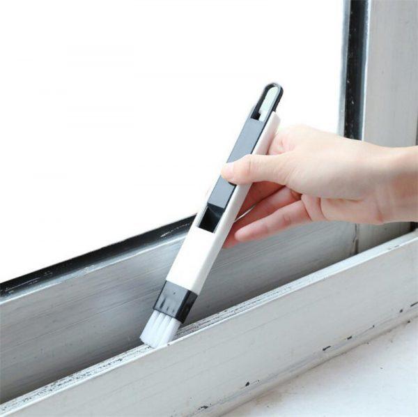 1PC 2 In 1 Multifunctional Window Slot Brush