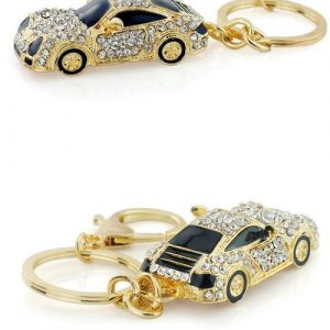 Cool Roadster Sports Car Crystal Keychain