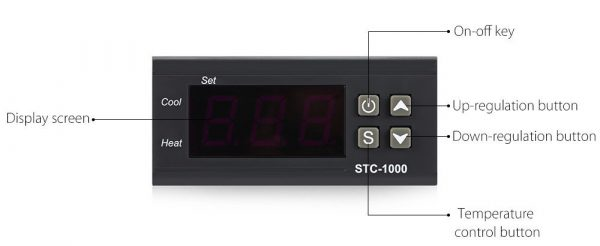 1000 NTC Sensor Microcomputer Temperature Controller with LCD Display